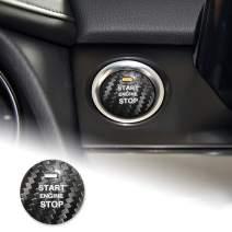AIRSPEED Carbon Fiber Car Engine Start Button Sticker Interior Trim for Mazda Axela Atenza CX-3 CX-4 CX-5 CX-8 MX-5 Accessories (Black)