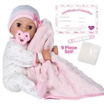 "Adora Adoption Baby ""Cherish"" - 16 inch newborn doll, with accessories and Certificate of Adoption"