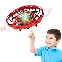 XINHOME Hand Operated Drone for Kids Adults - Hands Free Mini Drones for Kids, Easy Indoor Hand Drone, Flying Ball Drone Toys for Boys and Girls Gift (Red)
