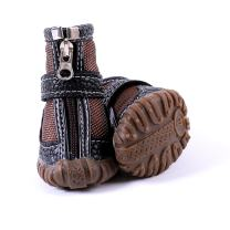 FLAdorepet Waterproof Dog Shoes Pu Leather Pet Dog Cat Rain Shoes Boots Dog Paw Protectors for Small Dog 4Pcs