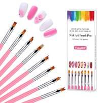 Nail Brush 8Pcs Acrylic Nail Art Brushes Uv Gel Nail Brush for Professional Salons and Home DIY nail art and Flower Drawing Pen
