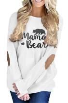 MODARANI Casual Long Sleeve T Shirt Mama Bear Good Vibes Tunic Tops Be Kind Blouse for Women Cute & Comfy