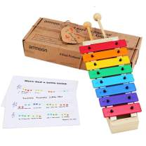 ammoon Xylophone for Kids Musical Toy with Child Safe Mallets Perfectly Musical Instruments Gift for Toddlers