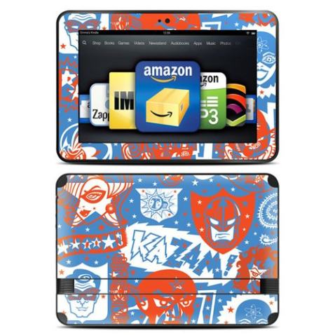 """Kindle Fire HD 8.9"""" Skin Kit/Decal - Comic Hero (will not fit HDX models)"""