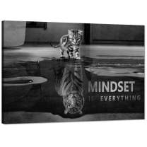 Yatsen Bridge Modern Inspirational Office Wall Art Mindset is Everything Poster Motivational Picture Positive Quotes Wall Decor for Home Office Decor - 24''Hx36''W