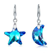 Tacther.H Swarovski Crystals Dangle Hook Earrings for Women Jewelry