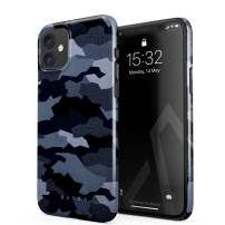 BURGA Phone Case Compatible with iPhone 11 - Navy Blue Camo Camouflage Cute Case for Women Thin Design Durable Hard Plastic Protective Case