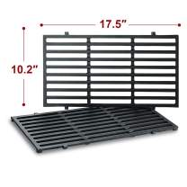 Antree 7637 Grates Replacement for Weber Spirit 200 E210 Grill Grates (with Front Control Panel), Porcelain Enameled Grates Cooking Grates for Spirit 210 E-210 Parts -17.5 x 10.2 x 0.5 inch (Set of 2)