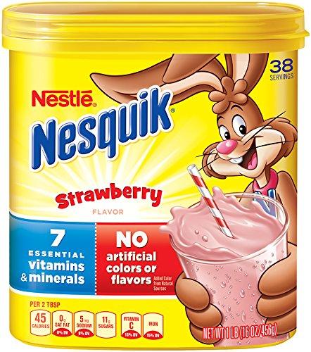 Nesquik Milk Shake Powder, Strawberry, 16 Ounce