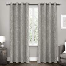 """Exclusive Home Curtains Forest Hill Panel Pair, 84"""" Length, Ash Grey, 2 Piece"""