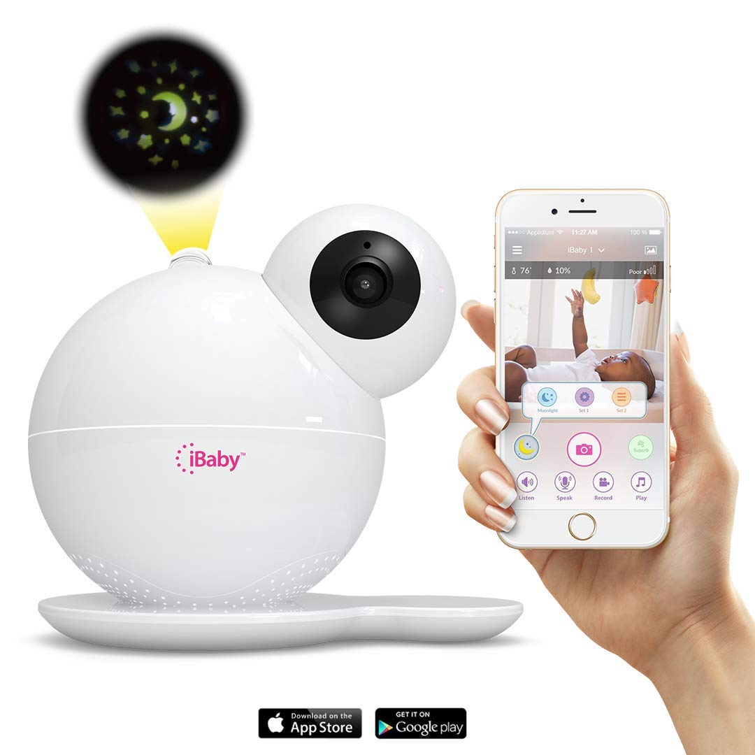iBaby M7 Premium WiFi Baby Monitor 1080P Wireless Infant Video Camera, Night Vision, Motion and Cry Alert, with Temperature & Humidity Sensors, Air & CO2 Sensors