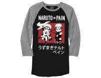 Ripple Junction Naruto Shippuden Naruto Vs Pain Adult Baseball Raglan