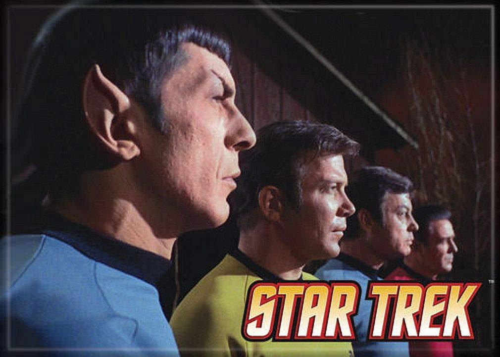 "Ata-Boy Star Trek Cast in Profile 2.5"" x 3.5"" Magnet for Refrigerators and Lockers"
