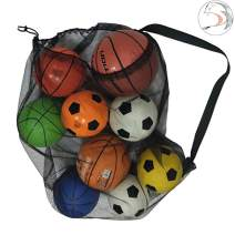 YJNBD Heavy Duty Mesh Equipment Bag,Extra Large Sports Ball Bag, Mesh Ball Bag for Soccer Ball, Water Sports, Beach Cloth, Swimming Gears, Adjustable Shoulder Strap for Adults and Kids 28 x 41 Inches