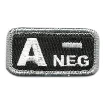 """Tactical Blood Type Patches -""""Type A Negative"""" - 2""""x1"""""""