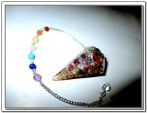 """Jet Orgone Pendulum 5 Healing 2"""" Crystal Chakra Chain Natural Piezoelectric Energy Free Booklet Crystal Therapy Image is JUST A Reference."""