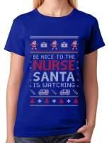 Nurse Ugly Christmas Sweater Funny Nurses Xmas Gift Women T-Shirt