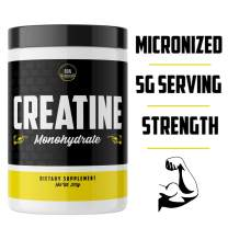 RDN Pure CREATINE MONOHYDRATE - Bulk Creatine Supplement for Muscle Building, Strength, and Working Out. Vegan & Organic Creatine, Non GMO | 375g 75 Servings