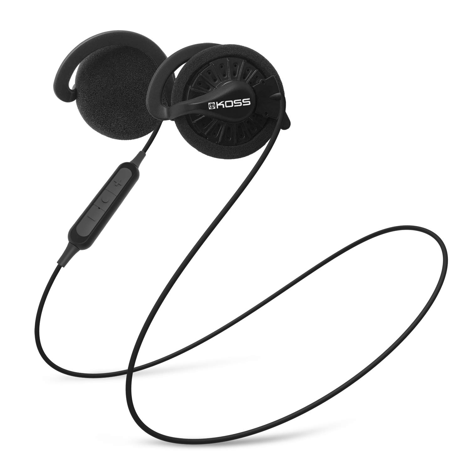 Koss KSC35 Wireless Bluetooth Ear Clip Headphones, in-Line Microphone with Remote, 6+ Hour Battery Life, Black