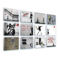 """Alonline Art - Always Hope Flower Thrower TV Girl by Banksy 