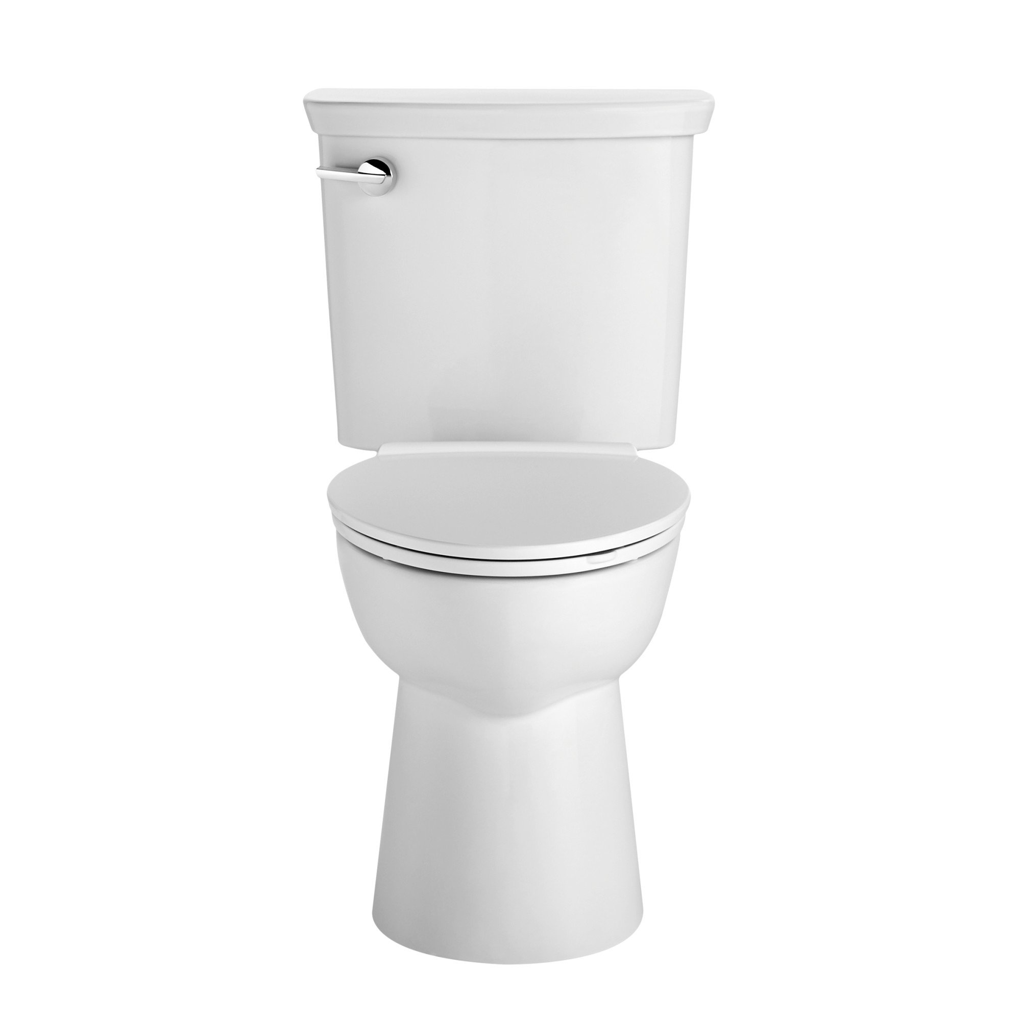 American Standard 238AA104.020 VorMax High Efficiency Right Height Elongated Toilet with Left Hand Trip Lever, White