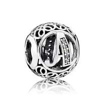 NINGAN Letter Alphabet Charm 925 Sterling Silver Charms Fits European Bracelets Compatible
