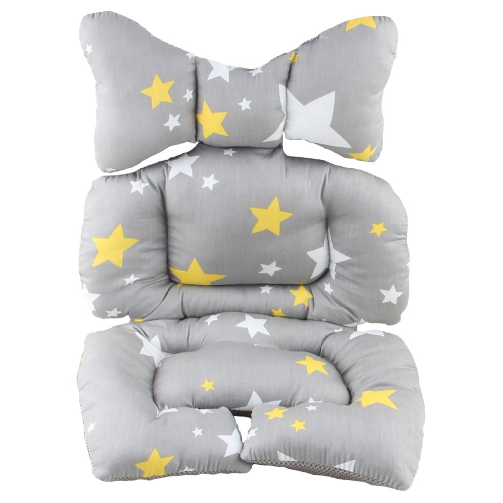 Infant Car Seat Insert, KAKIBLIN Cotton Baby Stroller Liner Head and Body Support Pillow, Infant Seat Pad Carseat Neck Support Cushion for Toddler, Star