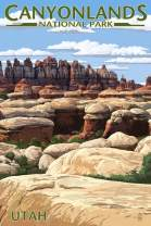 Canyonlands National Park, Utah (36x54 Giclee Gallery Print, Wall Decor Travel Poster)