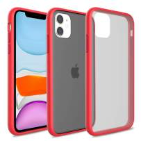 iPhone 11 Case, Yunerz iPhone 11 Translucent Matte Anti-Drop and Shockproof Protection Matte Cover Frosted Case for iPhone 11 6.1inch (red)