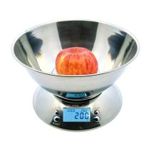 Otimo Kitchen Weighing Scale Bowl – Digital Weight, Electronic Scale – Stainless Steel – Max Weight 11lbs (5000g)