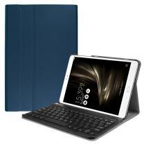 Fintie ASUS ZenPad 3S 10 Z500M Keyboard Case (NOT FIT Model# Z500KL) - SlimShell Lightweight Stand Cover w/Magnetically Detachable Wireless Bluetooth Keyboard for ZenPad 3S 10 (Z500M ONLY), Navy