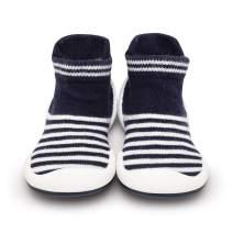 Komuello Boy Baby Toddler Pull up First Walker Non Slip Soft Cotton Premium Sock Shoes Marine Boy Toddler 7 (18-24 Months)