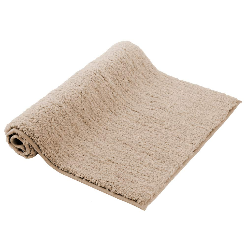 "Soft Bath Mat Homever Small Luxury Beige Bath Rug with 17""x24"", Non Slip Latex Backing Shower Rugs Microfiber Soft Washable Bathroom Floor Mat, Water Absorbent Bathmat for Tub"