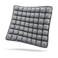 SUNFICON Inflatable Air Seat Cushions Pad Portable Breathable Comfort Cushion Car Seats Wheelchair Office Chairs Pad Orthopedics Pain Pressure Relief Cushion Camping Seat Mat 18'' x 16'' Grey