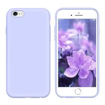 YINLAI iPhone 6S Case Lavender, iPhone 6 Case Liquid Silicone, Slim Soft Gel Rubber Cover Microfiber Cloth Lining Cushion Lightweight Shockproof Protective Durable Phone Cases for iPhone 6S/6, Purple