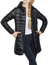 Jenkoon Womens Hooded Ultra Light Weight Packable Down Coat Puffer Jacket