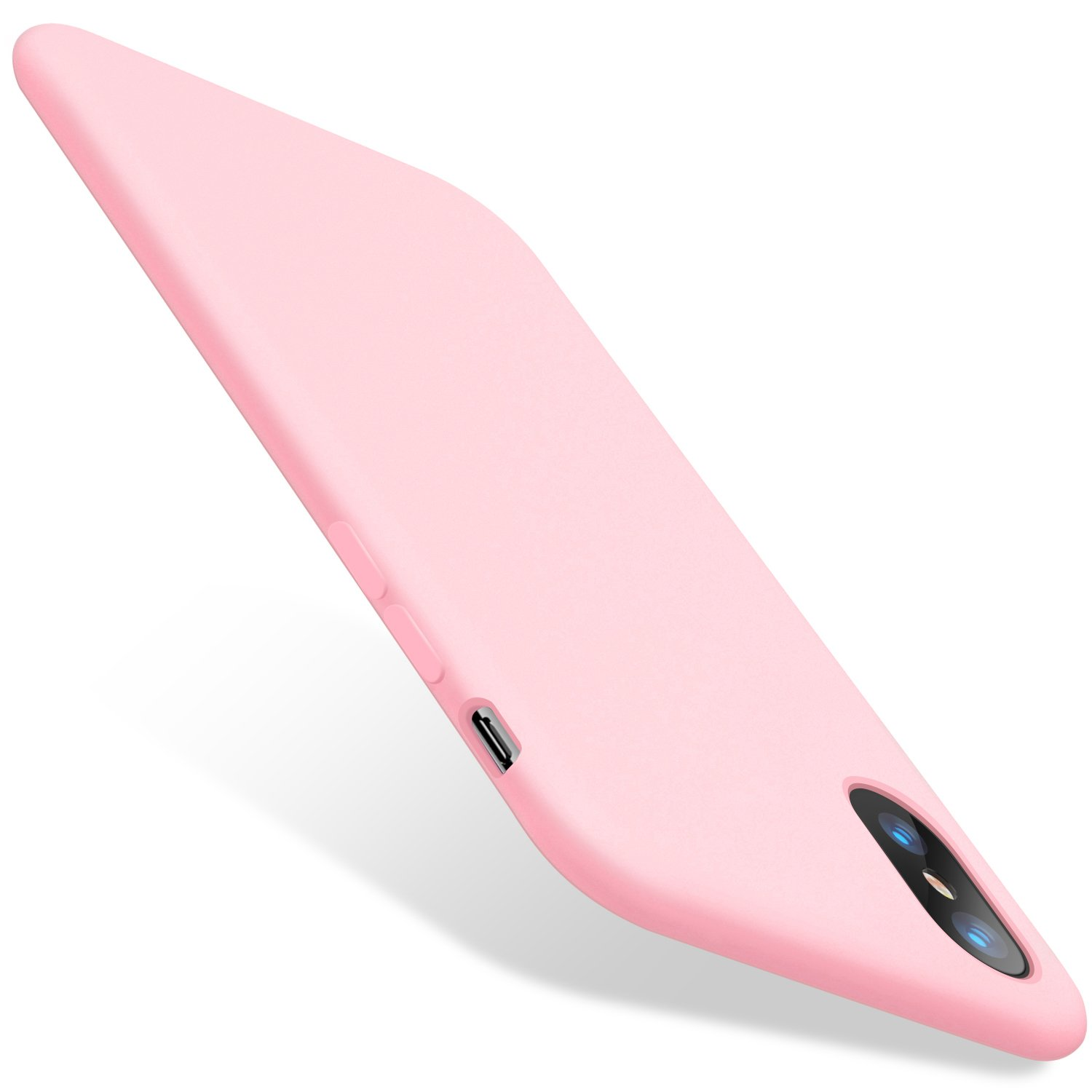 TORRAS [Love Series] iPhone X Case 2017 (ONLY), Liquid Silicone Gel Rubber Shockproof Case Soft Microfiber Cloth Lining Cushion Compatible with iPhone X (2017), Pink