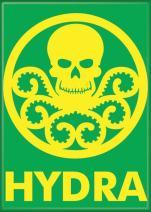 "Ata-Boy Marvel Comics Hydra Insignia 2.5"" x 3.5"" Magnet for Refrigerators and Lockers"