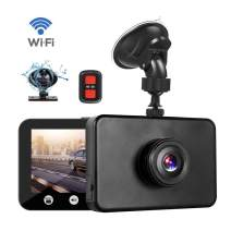 Vsysto Dash Cam WiFi 1080P FHD DVR Car Driving Recorder 4.5 Inch Front and Inside Dual Lens Camera 310° Wide Angle, G-Sensor, Loop Recording… (A4.5C)