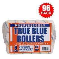 "True Blue Professional 9"" Paint Roller Covers, Best for All Types of Paint (96, 3/8"" Nap)"