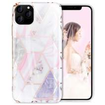 AICase Marble Case Compatible with iPhone 11 Pro Max for Women Girls, Slim Glossy Soft TPU, Marble-Pattern Cover for iPhone 11 Pro Max (6.5-inch), 2019