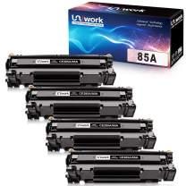 Uniwork Compatible Toner Cartridge Replacement for HP 85A CE285A use for Laserjet Pro P1102W P1109W P1106w, Laserjet Pro MFP M1217NFW M1212NF M1132 M1214NFH M1138 M1216nfh Printer (4 Black)