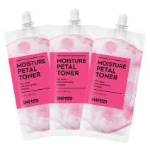 SNP mini - Moisture Petal Toner - Intensive Skin Hydration & Protection - Spout Pouch Travel Design - 25ml per Pack - 3 Pack - Best Gift Idea for Mom, Girlfriend, Wife, Her, Women