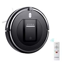 Robotic Vacuum Cleaner w/ 3 Cleaning Modes by EYUGLE, Sweeping Smart Vacuum Cleaner Robot with High Suction, 5cm Anti-Falling, Anti-Collision w/ Dual Roller Brushes, and HEPA Filter for Hard Floor and Thin Carpets