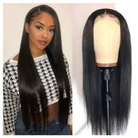 """360 Human Hair Wigs, VIPbeauty 150% Density Glueless Brazilian Straight Human Hair 360 Lace Frontal Wigs Pre Plucked with Baby Hair for Black Women(20"""", Nature Color)"""