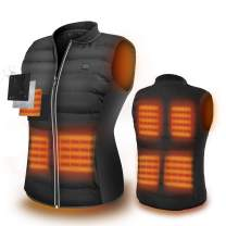 ZLTFashion 5V Heated Vest,USB Charging Electric Lightweight Body Warmer Clothes Washable Heating Pad Apparel Jacket for Men&Women Hiking, Hunting, Motorcycle, Camping