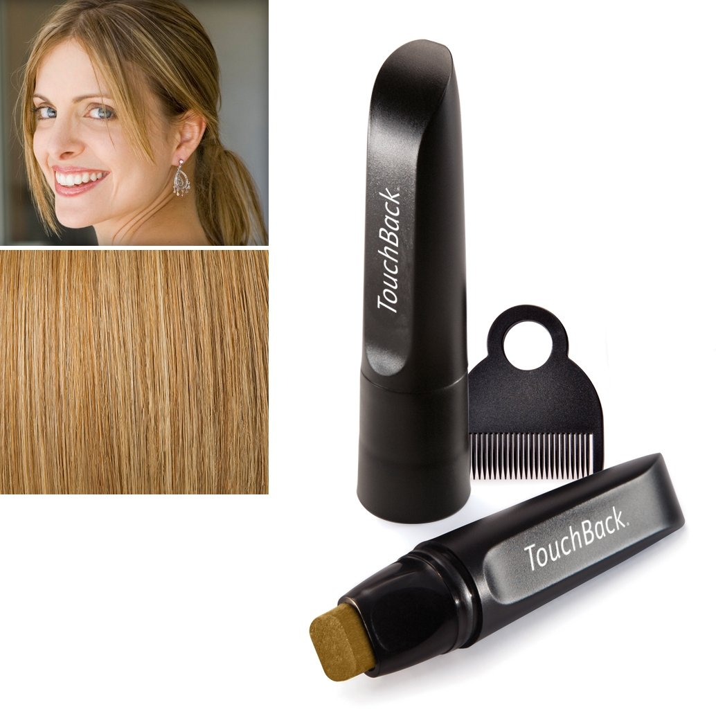 TouchBack PRO Gray Root Touch Up Marker Applicator - Real Hair Color Golden Blonde