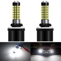 KATUR 880 886 890 892 Led Light Bulb Super Bright 900 Lumens High Power 3014 78SMD Lens LED Bulbs for DRL Fog Lights,Xenon White(Pack of 2)