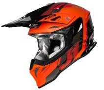 JUST 1 Reactor Thermoplastic Resin External Shell MX Off-Road Motocross Motorcycle Helmet (Reactor Orange Black, X-Small)