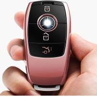 Intermerge for Mercedes Benz Key Fob Cover, Premium and Fashion Appearance Key Case Cover for Mercedes Benz E Class, 2018 up S Class, 2017 2018 W213 Keyless Smart Key Fob_Rose Gold Color